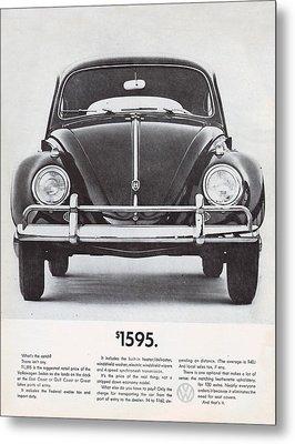Volkswagen Beetle Metal Print by Georgia Fowler