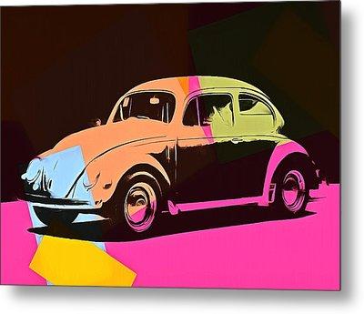 Volkswagen Beetle Pop Art 2 Metal Print by Dan Sproul