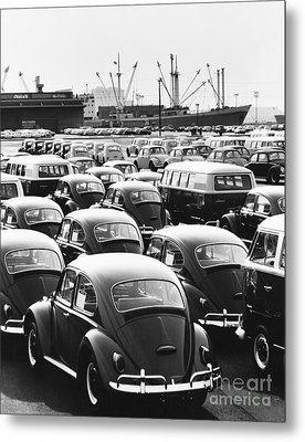 Volkswagen Shipment Metal Print by M E Warren