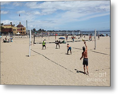Volleyball At The Santa Cruz Beach Boardwalk California 5d23837 Metal Print by Wingsdomain Art and Photography