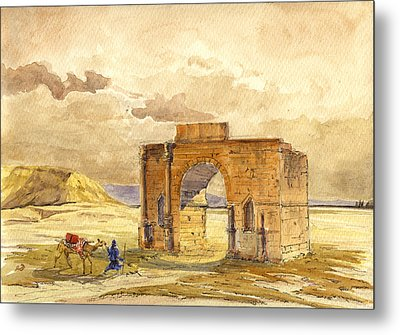 Volubilis Mecknes Ruins Metal Print by Juan  Bosco