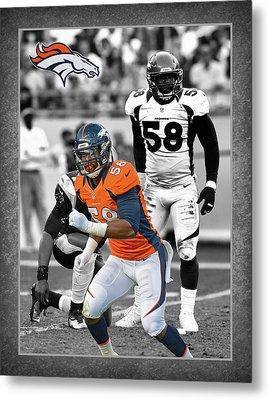 Von Miller Broncos Metal Print by Joe Hamilton