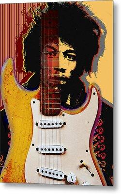 Jimi Hendrix Metal Print by Larry Butterworth