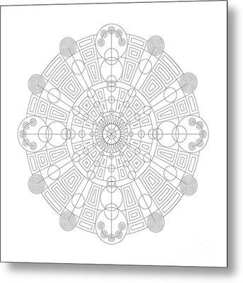 Vortex Metal Print by DB Artist