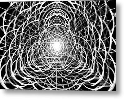 Metal Print featuring the drawing Vortex Equilibrium by Derek Gedney