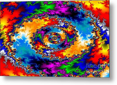 Metal Print featuring the digital art Vortex by Steed Edwards