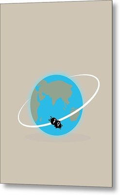 Vostok 6 In Orbit Metal Print by Ramon Andrade 3dciencia