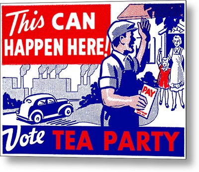Vote Tea Party Metal Print by Historic Image