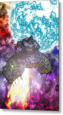 Metal Print featuring the digital art Voyage by Matt Lindley
