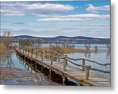 Vransko Lake Nature Park Bird Observatory Metal Print