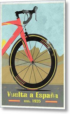 Vuelta A Espana Bike Metal Print by Andy Scullion