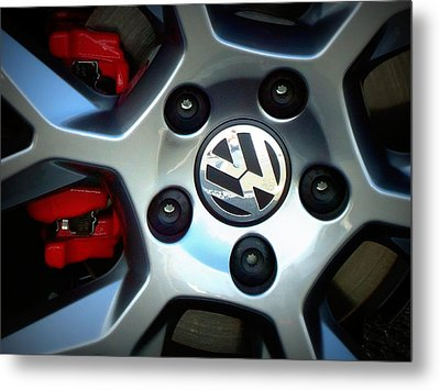 Vw Gti Wheel Metal Print
