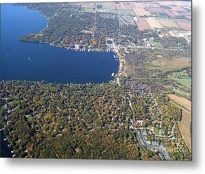 W-057 Williams Bay Fall Geneva Lake Wisconsin Metal Print