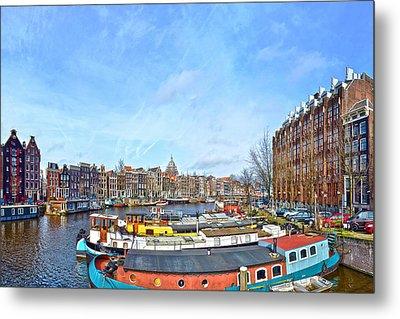 Waalseilandgracht Amsterdam Metal Print
