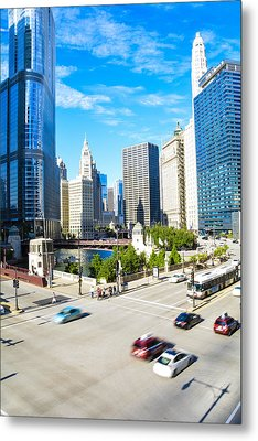 Wacker And State  Metal Print by Michael  Bennett