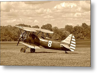 Waco Upf-7 Metal Print by Jean Goodwin Brooks