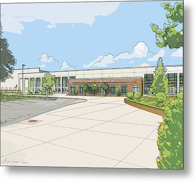 Wade Hampton High School Metal Print by Greg Joens