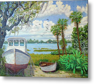 Wadmalaw Boats Metal Print by Dwain Ray