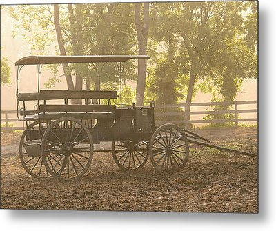 Wagon - Abe's Buggie Metal Print by Mike Savad