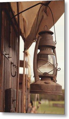 Wagon Lantern Metal Print