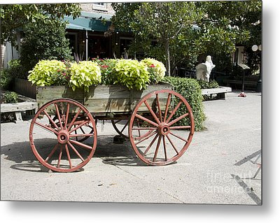 wagon of flowers on Julian Street Metal Print
