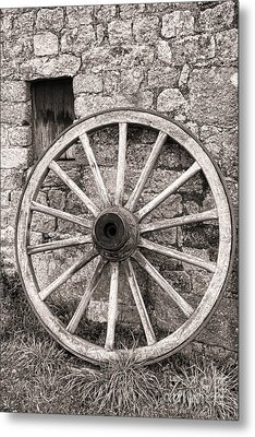 Wagon Wheel Metal Print by Olivier Le Queinec