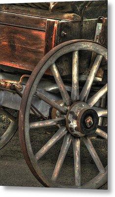 Wagonwheel Metal Print