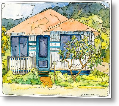 Waianae House Metal Print by Stacy Vosberg