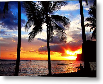 Waikiki Sunset Metal Print by Kara  Stewart