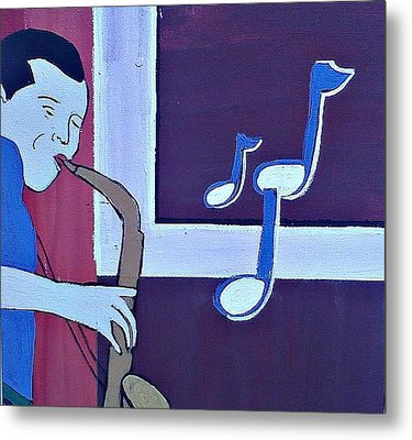 Wailing Metal Print by Lew Griffin