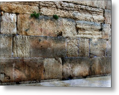 Metal Print featuring the photograph Wailing Wall In Israel by Doc Braham