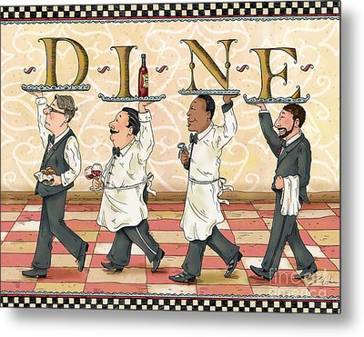 Waiters Dine Metal Print by Shari Warren