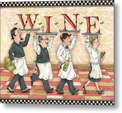 Waiters Wine Metal Print by Shari Warren