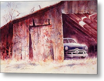 Metal Print featuring the painting Waitin In The Shade by John  Svenson