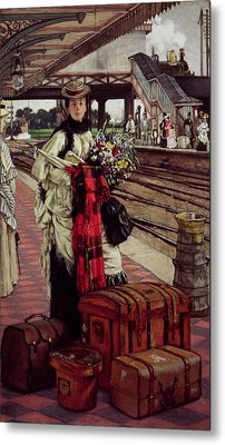 Waiting At The Station, Willesden Junction, C.1874 Metal Print by James Jacques Joseph Tissot