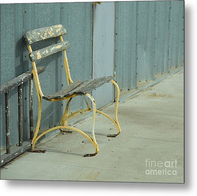 Waiting Bench Metal Print