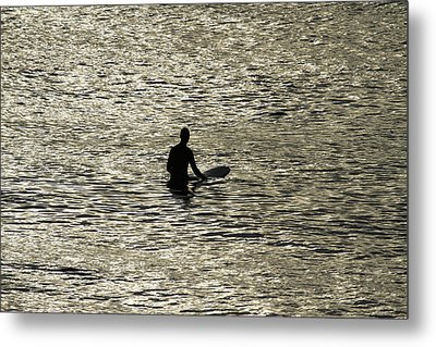 Waiting For An Early Morning Wave Metal Print by Noel Elliot