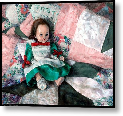 Waiting For Chloe Metal Print by Diana Moses Botkin