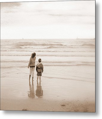 Waiting For Daddy Metal Print