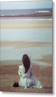 Waiting For High Tide Metal Print