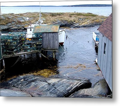 Waiting For Lobsters Metal Print by Janet Ashworth