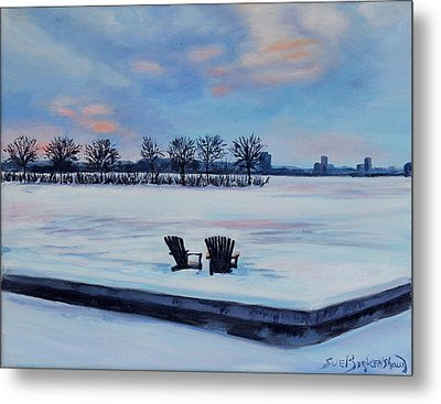 Waiting For Spring Metal Print by Sue Birkenshaw
