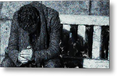 Waiting For The Bus Metal Print by Jim Pavelle