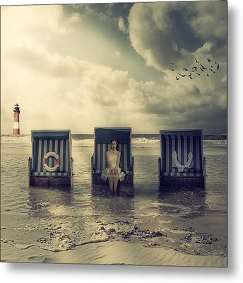 Waiting For The Flood Metal Print by Joana Kruse