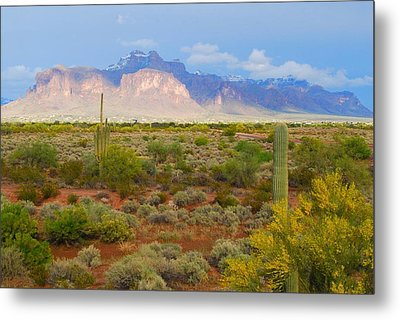 Metal Print featuring the photograph 16x20 Canvas - Superstition Mountain Light by Tam Ryan