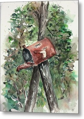 Waiting For The Mail Metal Print by Stephanie Sodel