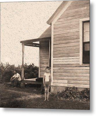 Waiting For The Rain Wataga Illinois 1944 Metal Print