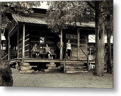 Metal Print featuring the photograph Waiting For The Train by B Wayne Mullins