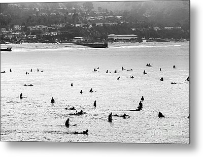Waiting For The Waves Metal Print by John Rizzuto