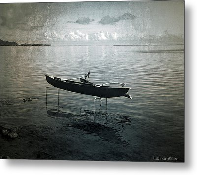 Metal Print featuring the photograph Waiting In Blue by Lucinda Walter